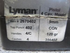 Lyman 4 Cavity 356-402 120gr bullet mold mould excellent condition Free Shipping