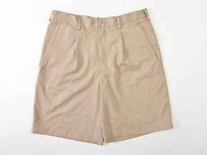 Nike Golf Mens Shorts Fit Dry Beige Pleated 32