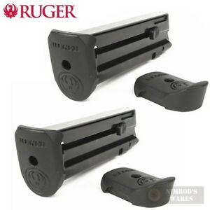 TWO Ruger SR22P Mag-10 .22 Caliber Magazines w Extensions 90382 FAST SHIP