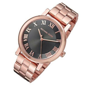 New Michael Kors MK3585 Women's Norie Rose Gold Stainless Steel Bracelet Watch