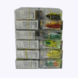 60Pcs Rubber Frog Fishing Lures Crank Bait Tackle 5.5cm2.2'' With Retail Box