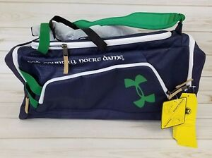 Notre Dame Fighting Irish Under Armour Duffle Backpack Carry on Gym Bag NWT
