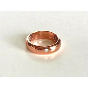 ARTHRITIS SOLID MAGNETIC COPPER RING WITH 3 - 2000 GAUSS MAGNETS. SIZES 5 - 17