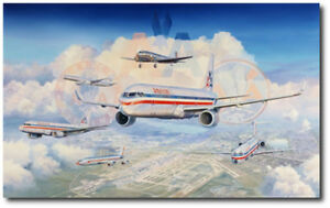 Past, Present and Futureby Rick Herter Giclee Canvas Aviation Art Print