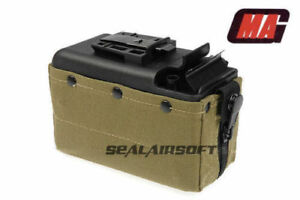 MAG 2500rd Airsoft Toy Drum Pouch Magazine For Classic Army CA  TOP M249 AEG OD
