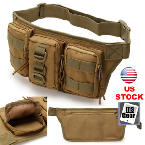 Tactical Waist Bag Pouch Military Belt Pack Outdoor Camping Hiking Waterproof US
