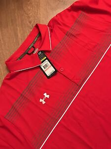 UNDER ARMOUR LOOSE HEAT GEAR Men's Polo Golf Shirt Sz XXXL  Red