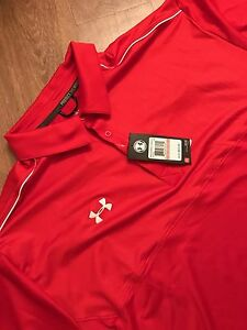 Under Armour Heatgear Loose Polo 3XL XXXL Red Big and Tall