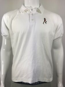Vintage Nike Running Hawaii Event Golf Shirt Mens Size Large White Silver Tag
