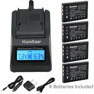 FNP60 Battery or Fast Charger for  HP Photosmart R818 R827 R837 R927 R967