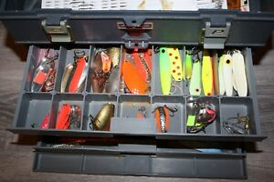 VINTAGE PLANO TACKLE BOX 757 LOADED over 100 pieces