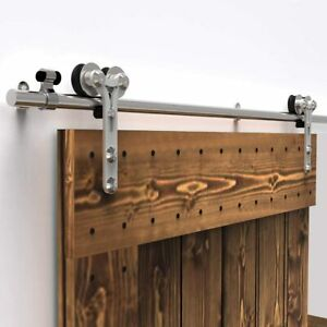 Stainless Steel Sliding Barn Wood Door Hardware Closet Track Kit SingleDouble