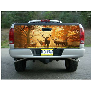 T78 DEER HUNTING BUCK Tailgate Wrap Vinyl Graphic Decal Sticker LAMINATED