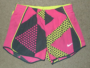 Women's XS Extra Small Nike Tempo running athletic shorts lined pink geometric