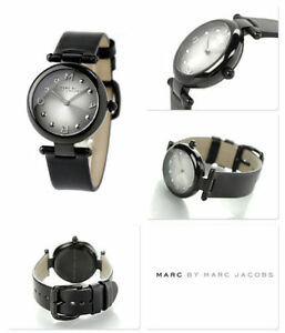 new + box ladies Marc by Marc Jacobs MJ1410 DOTTY black leather bracelet WATCH