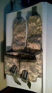 NEW US Military MOLLE 4 Mag Magazine Pouch ACU Digital