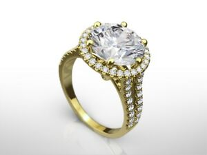 6.00 CT ROUND DVS1 ENHANCED DIAMOND  ENGAGEMENT RING 18K YELLOW GOLD GIFT