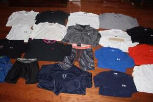 LOT 19 UNDER ARMOUR MENS T SHIRTS COMPRESSION SHORTS PULLOVER SLEEVELESS 2XL 3XL