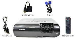 Epson PowerLite 77C LCD Projector 2200 ANSI HD 1080i HDMI-adapter wAccessories