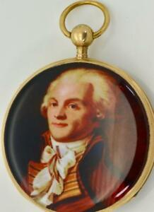 MUSEUM  French Revolution 18k gold&enamel pump repeater pocket watch.Robespierre