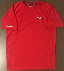 Polo Sport Ralph Lauren Thermo Vent Red Short Sleeve T Shirt Men Size Large