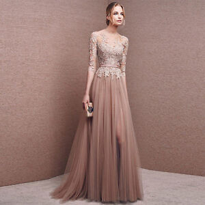 Long Chiffon Bridesmaid Formal Gown Ball Party Cocktail Evening Gown Prom Dress