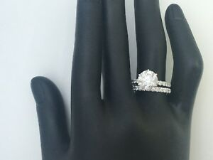 3.00 cts ROUND CUT DSI1 DIAMOND SOLITAIRE ENGAGEMENT RING 14K WHITE GOLD