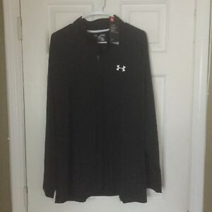 UNDER ARMOUR XL TALL BLACK LOOSE 14 ZIP PULLOVER JACKET TOP NEW$85