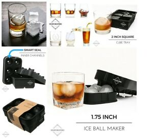 Ice Ball Tray Silicone Maker Sphere Cube Mold Black Cool shape Trays Freeze Set