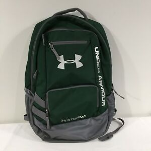 Under Armour UA STORM 1 Backpack Large School Book Bag Green and Silver Gray