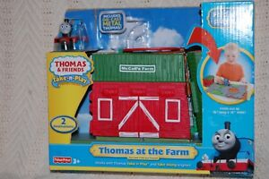 Thomas and Friends Take-n-Play McColl's Farm fold-out playset New