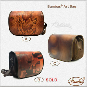 Designer Bambas Art Hand Painted Engraved Crossbody Messenger Shoulder Bag
