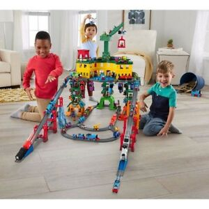 Thomas The Train Super Station Play Set Cranky Crane Percy James Harold Friends