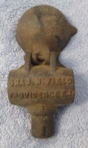 ANTIQUE CHARLES H. FIELD #3 CAST IRON LEAD HAMMER HEAD MOLD Providence RI VTG
