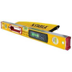 Stabila 36548 48quot; Type 196 2 Electronic Level IP65 wet rated Case New $290.00