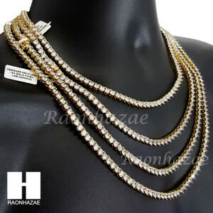 Quality 3 Prong Choker Tennis Necklace Set Lab Diamond 5mm  18-24