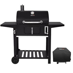 Royal Gourmet 24'' BBQ Charcoal  Side Table Grill with Cover CC1824AC