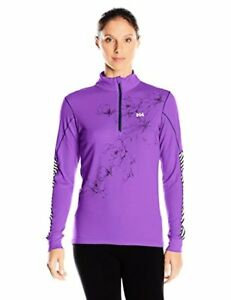 Helly Hansen Women's HH Active Flow Graphic 12 Zip Long Sleeve Base Layer Shirt