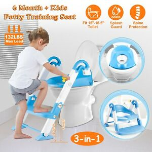 Baby Kids Training Toilet Potty Trainer Seat Chair Toddler Ladder Step Up Stool $24.26