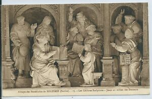CPA 72 Solesmes the Famous Sculptures Jesus To Middle Of Doctors $42.12