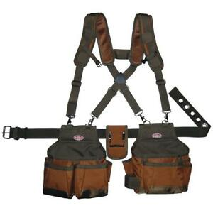 Adjustable Suspension Rig Tool Belt Construction Holster Strap Pocket Pouch Bag