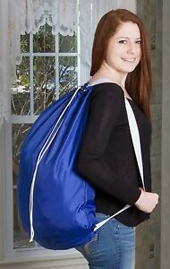 Backpack Laundry Bag - Durable Nylon Material - Two Shoulder Straps - 22