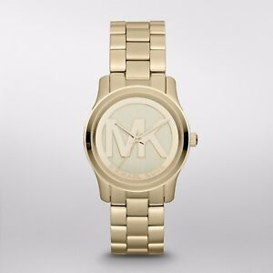 Michael Kors Women's Gold Tone Stainless Steel Bracelet Watch MK5786