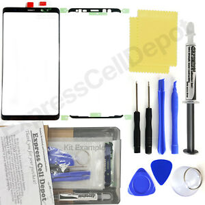 Black Outer Front Glass Lens Screen Replacement for Samsung Galaxy Note 8 N950