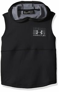Under Armour Boys Train to Game Sleeveless Hoodie BlackGraphite Youth Large