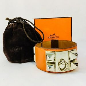 HERMÈS Swift Collier de Chien CDC Bracelet S Orange  Est. Retail: $1150