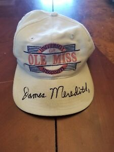 James Meredith autographed Ole Miss Hat
