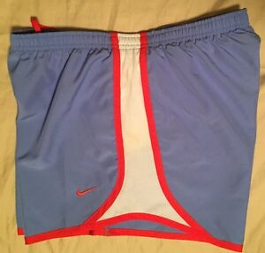$28 Nike Tempo Printed Athletic Running Dri-fit Shorts Blue Size XL Big Girls