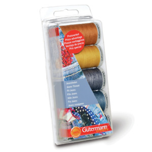 Gutermann Extra Strong Jeans Sewing Thread Box Set 7313231 $18.69