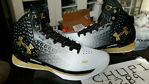 Under Armour UA Curry 1 One SC 30 MVP Black White Metallic Gold 1258723-009 Dub